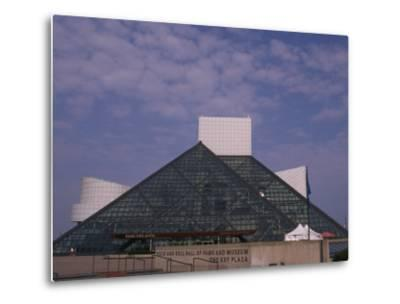 Rock and Roll Hall of Fame in Downtown Cleveland--Metal Print