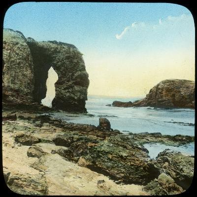 Rock Arch at Perran Beach, Cornwall, Late 19th or Early 20th Century--Giclee Print