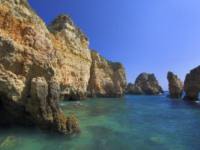 Rock Arches and Cliffs at Ponte Da Piedade Near Lagos, Algarve, Portugal, Europe-Neale Clarke-Photographic Print