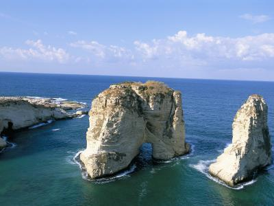 Rock Arches, Beirut, Lebanon, Mediterranean Sea, Middle East-Alison Wright-Photographic Print