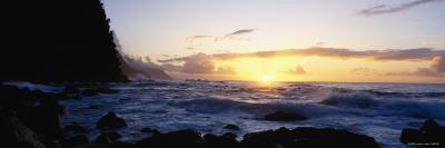 Rock at the Coast, Na Pali Coast, Kauai, Hawaii, USA--Photographic Print