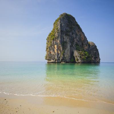 Rock at the Phra Nang Beach, Ao Nang, Krabi, Thailand-Rainer Mirau-Photographic Print