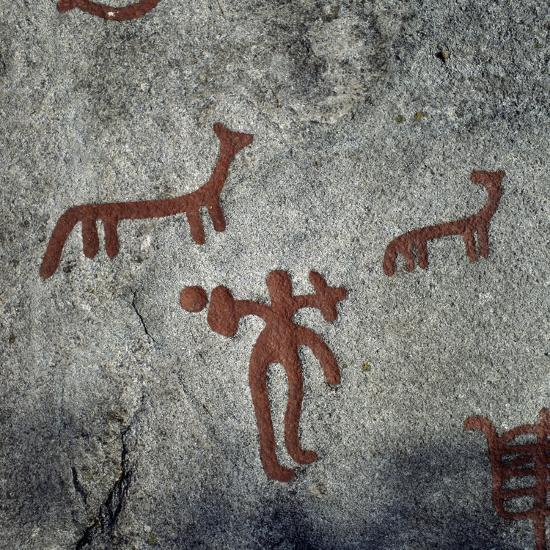 Rock Carvings, Begby, Norway, Bronze Age--Giclee Print