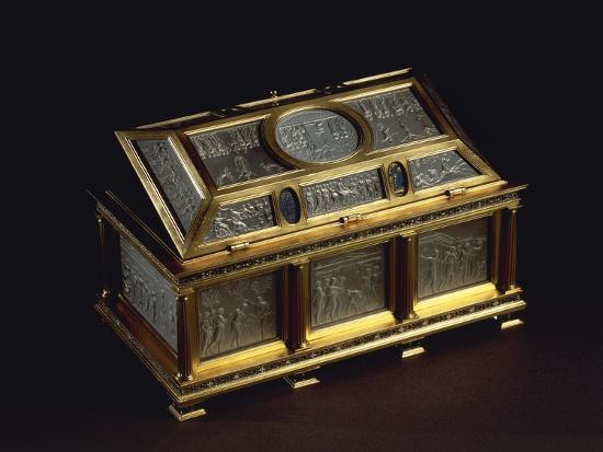 Rock Crystal and Enameled Silver-Gilt Coffer--Giclee Print