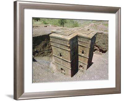 Rock Cut Church of St. Georgel, (10th, 13th C.) Lalibela, Wollo Region, Ethiopia, Africa-J P De Manne-Framed Photographic Print