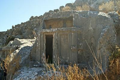 Rock Cut Tomb, Necropolis, Xanthos, Turkey--Photographic Print