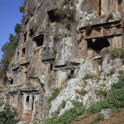 Rock-Cut Tombs in Telmessos Lykian, 4th Century Bc-CM Dixon-Photographic Print
