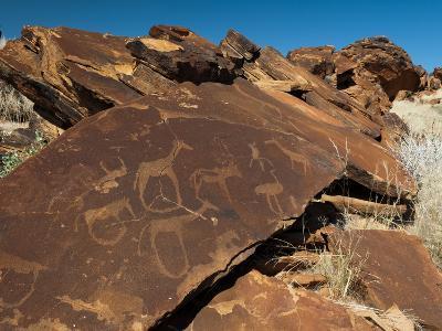 Rock Engravings, Huab River Valley, Torra Conservancy, Damaraland, Namibia, Africa-Sergio Pitamitz-Photographic Print