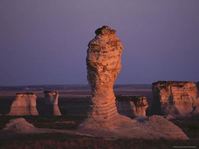 Rock Formation During Sunset, Kansas-Brimberg & Coulson-Photographic Print