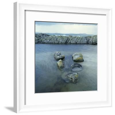 Rock Formation in Ocean-Micha Pawlitzki-Framed Photographic Print