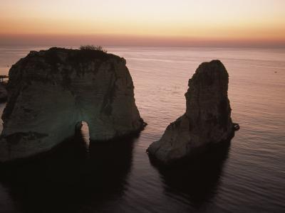 Rock Formation in the Mediterranean Sea-David Evans-Photographic Print
