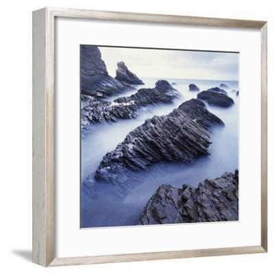 Rock Formation on Coast-Micha Pawlitzki-Framed Photographic Print