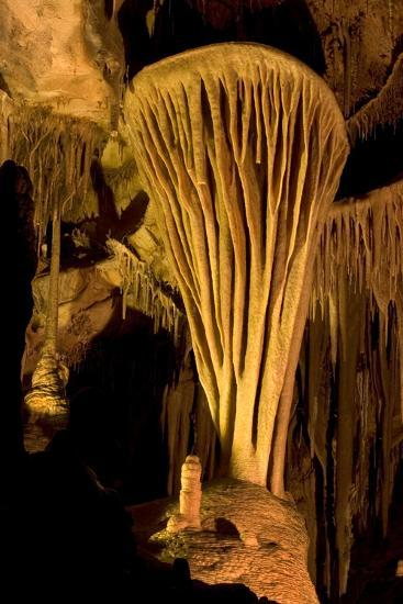 Rock Formation, the Parachute, Inside Lehman Caves in Great Basin National Park-Phil Schermeister-Photographic Print