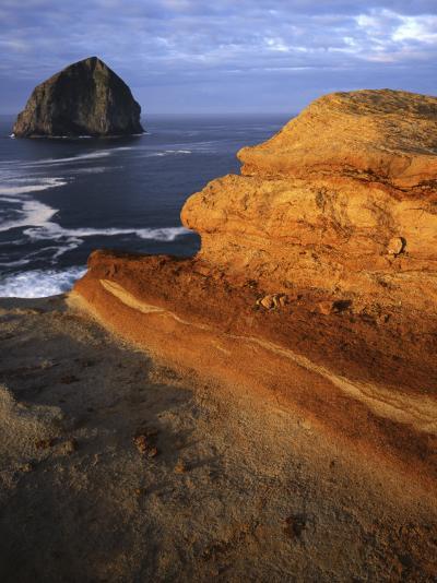 Rock formations along Oregon Coast at sunrise, Cape Kiwanda State Park , Oregon, USA-Charles Gurche-Photographic Print