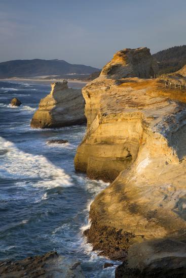 Rock Formations Along the Coast at Cape Kiwanda, Oregon, USA-Brian Jannsen-Photographic Print