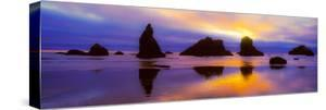 Rock formations along the coast in Bandon, Coos County, Oregon, USA