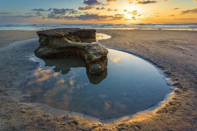 Rock Formations at Swamis Beach in Encinitas, Ca-Andrew Shoemaker-Photographic Print
