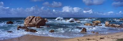Rock Formations at the Coast, Brignogan, Finistere, Brittany, France--Photographic Print