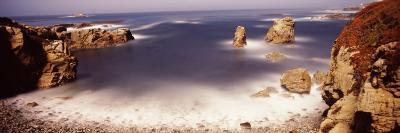 Rock Formations at the Coast, Moonlight Exposure, Big Sur, California, USA--Photographic Print