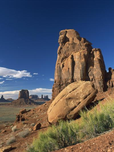 Rock Formations Caused by Erosion in a Desert Landscape in Monument Valley, Arizona, USA--Photographic Print