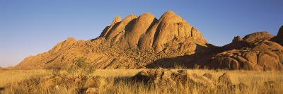 Rock Formations in a Desert at Dawn, Spitzkoppe, Namib Desert, Namibia--Photographic Print