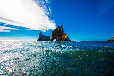 Rock Formations in Golden Bay, Tasman Region, South Island, New Zealand, Pacific-Laura Grier-Photographic Print