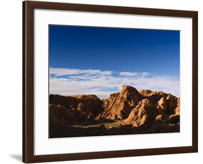 Rock Formations in Petroglyph Canyon on Mouse's Tank Trail-James Forte-Framed Photographic Print