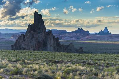 Rock Formations in the Late Daylight Near Monument Valley-Michael Runkel-Photographic Print