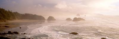 Rock Formations in the Ocean, Ecola State Park, Cannon Beach, Clatsop County, Oregon, USA--Photographic Print