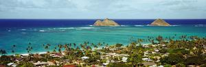Rock Formations in the Pacific Ocean, Lanikai Beach, Oahu, Hawaii, USA
