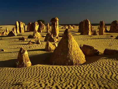 Rock Formations in the Sand of the Pinnacles Desert, Nambung National Park, Western Australia-Richard I'Anson-Photographic Print