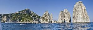Rock Formations in the Sea, Faraglioni, Capri, Naples, Campania, Italy