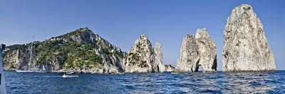 Rock Formations in the Sea, Faraglioni, Capri, Naples, Campania, Italy--Photographic Print