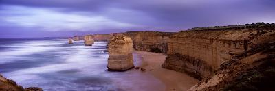 Rock Formations in the Sea, Twelve Apostles Sea Rocks, Great Ocean Road--Photographic Print