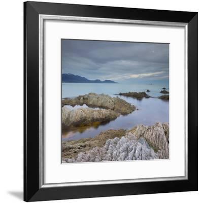Rock Formations, Kaikoura Peninsula, Manakau Mountains, Canterbury, South Island, New Zealand-Rainer Mirau-Framed Photographic Print