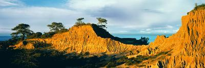 Rock Formations on a Landscape, Broken Hill, Torrey Pines State Natural Reserve, La Jolla--Photographic Print