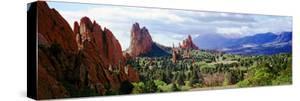 Rock Formations on a Landscape, Garden of the Gods, Colorado Springs, Colorado, USA