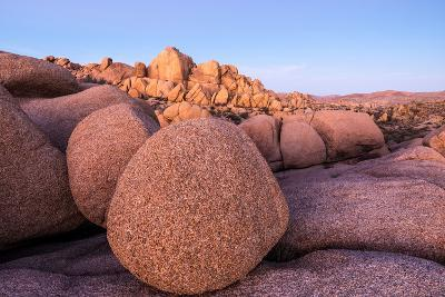 Rock formations on a landscape, Joshua Tree National Park, California, USA--Photographic Print
