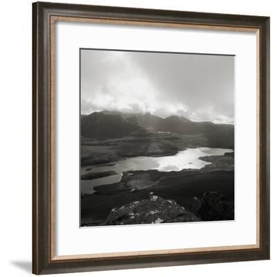 Rock Formations on Side of Stac Pollaidh above Loch Lurgainn--Framed Photographic Print