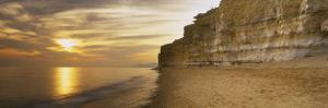 Rock Formations on the Beach, Burton Bradstock, Dorset, England
