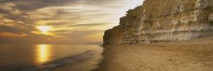 Rock Formations on the Beach, Burton Bradstock, Dorset, England