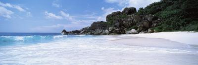 Rock Formations on the Beach, Grand Anse, La Digue Island, Seychelles