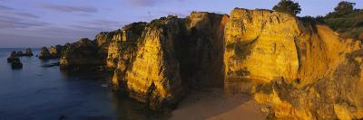 Rock Formations on the Beach, Lagos, Algarve, Portugal--Photographic Print