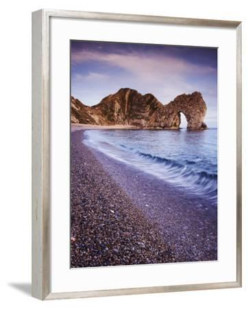 Rock Formations on the Coast, Durdle Door, Dorset, England--Framed Photographic Print