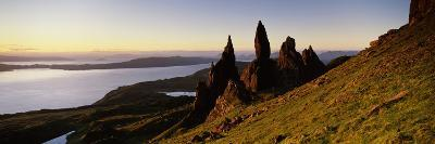 Rock Formations on the Coast, Old Man of Storr, Trotternish, Isle of Skye, Scotland--Photographic Print