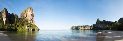 Rock Formations on the Coast, Railay Beach, Thailand--Photographic Print
