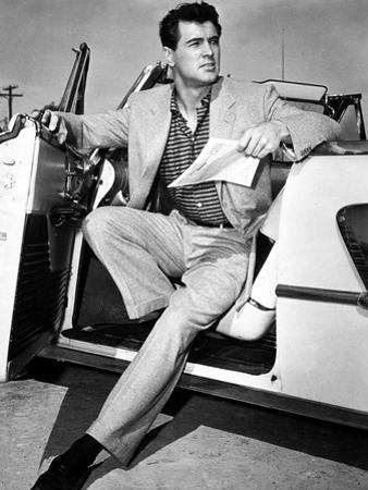 Rock Hudson in a Convertible, 1959
