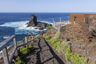 Rock in the Sea Near Santo Domingo, 'Roque De Santo Domingo', La Palma, Canary Islands, Spain-Gerhard Wild-Photographic Print