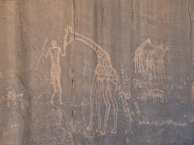 Rock Inscription, Tassili N'Ajjer, UNESCO World Heritage Site, Algeria, North Africa, Africa-Michael Runkel-Photographic Print