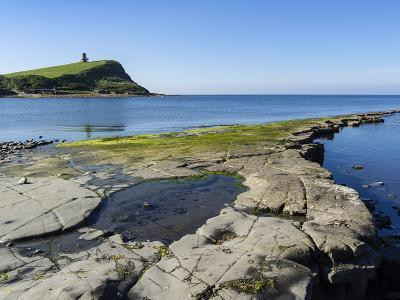 Rock Ledges and Clavell Tower in Kimmeridge Bay, Isle of Purbeck, Jurassic Coast-Roy Rainford-Photographic Print